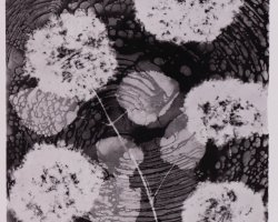 0977 - Black flowers - Negative image